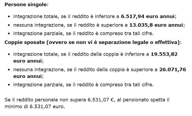 pensioni minime 80 euro aumento assegno pensionistico