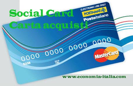 Carta acquisti inps social card 2017 per disoccupati for Requisiti carta di soggiorno 2017