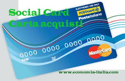 Carta Acquisti INPS Social Card 2017 per disoccupati: requisiti