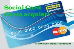 Social Card per disoccupati 2018: requisiti per ottenerla