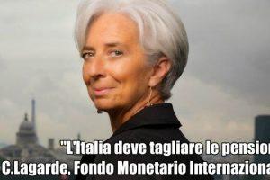 Italia deve tagliare le pensioni secondo il Fondo Monetario