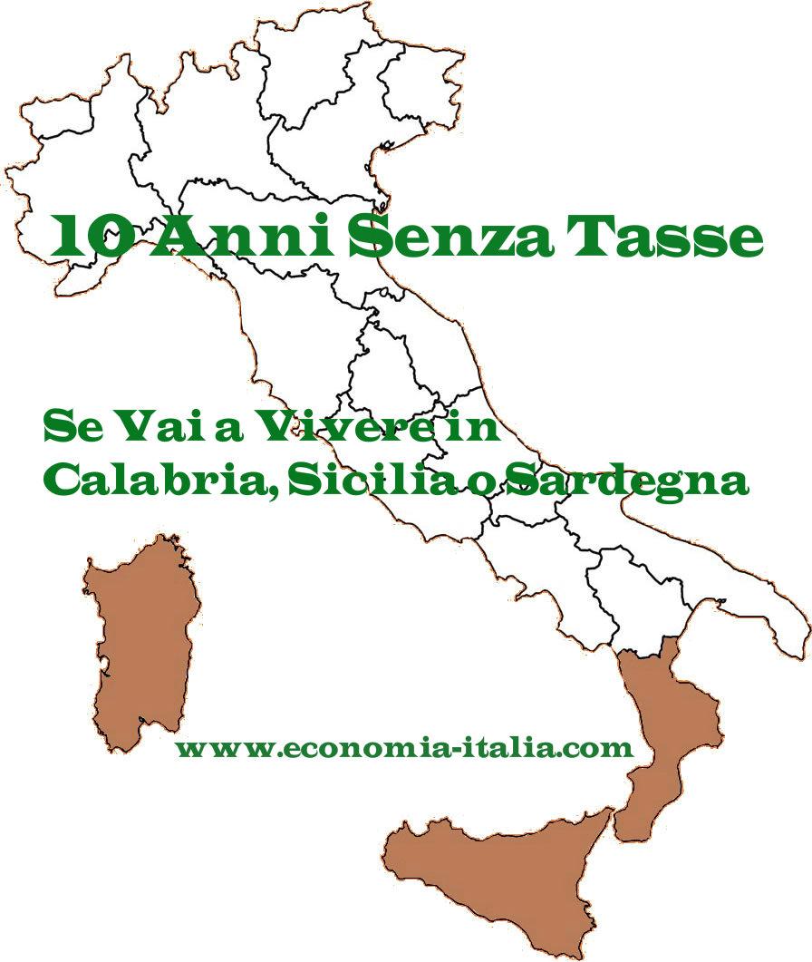 10 Anni Senza Tasse per i Pensionati che si Trasferiscono al Sud Italia