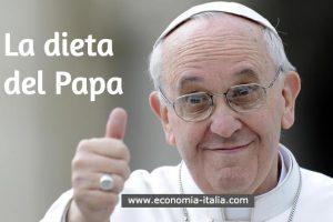 La Dieta di Papa Francesco in Esclusiva per Fedeli e Anziani Sovrappeso